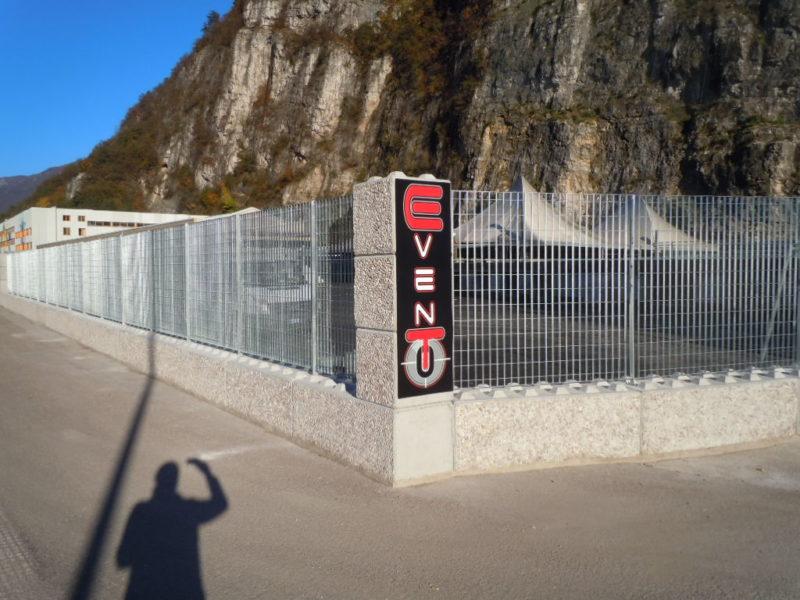 dolomitilego serie 600 con recinzione orsogrill di altezza 2400