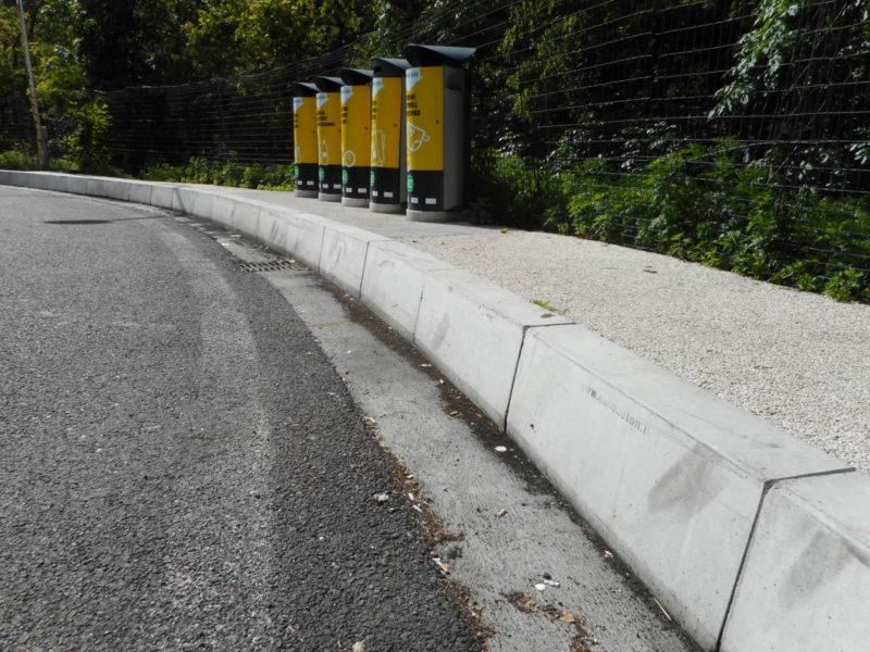 cordoli serie H.500 per evitare il superamento dei TIR in parcheggio negli autogrill