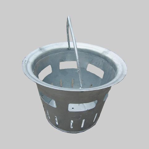 particolare cestello zincato di raccolta fango