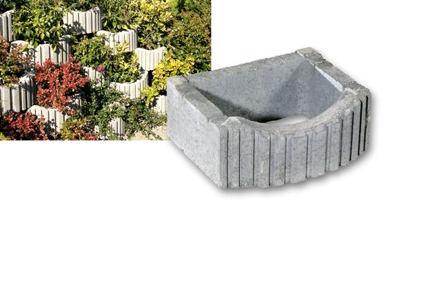 "Flora Gruppe - Retaining walls up to 2 mt. ""flora leggero"" (mini alpenstein) urban-decor"