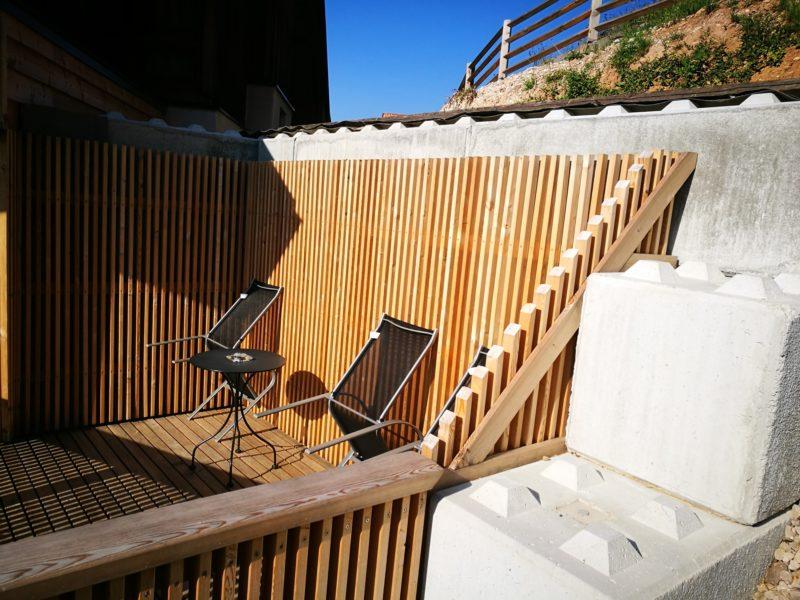 eurolego serie 600 per la creazione di terrazzino panoramico sotto scarpata