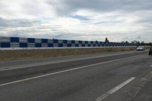 mini new jersey monopiede con recinzione grandi lavori h.2000 verniciata a scacchi