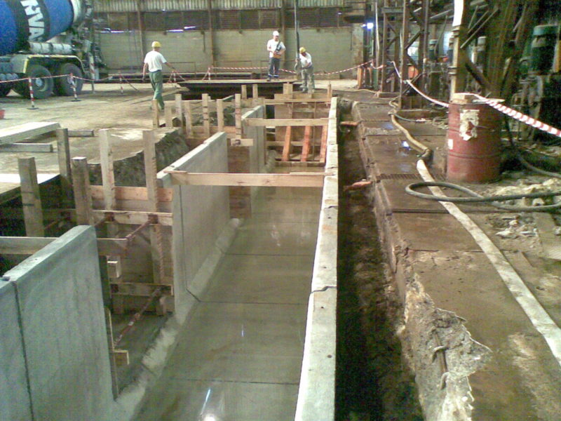 - Agosto 2012: canali tecnici 2000x2000 L.2000 presso centrale Tenaris Dalmine