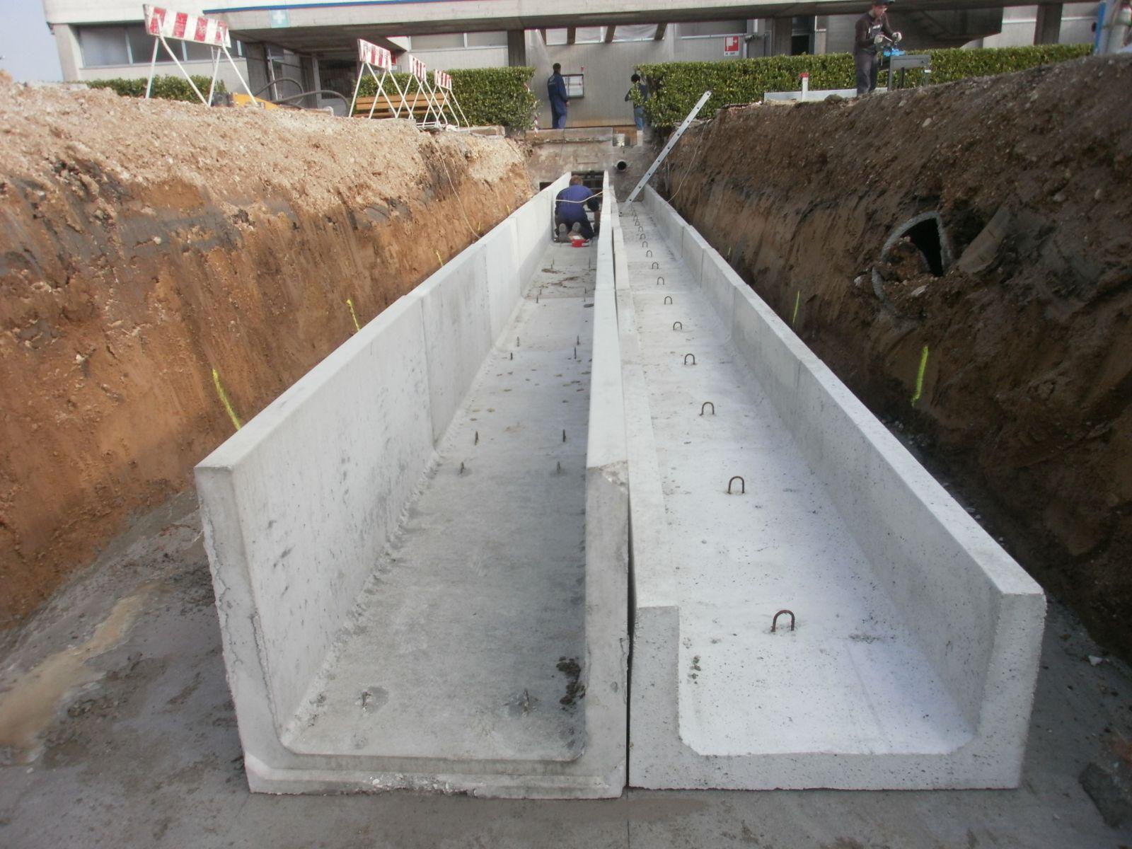 cantiere Laverda Marostica - Canali tecnici canalizzazioni-a-cielo-aperto