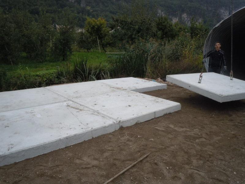 piattaforma per lavorazione di torba nella cava Mazzarol