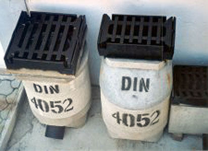 fotopluviali4052 - Rain drainage shafts DN.450 DIN 4052 sewers