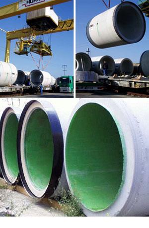 fotospinta - Tubi circolari armati di spinta per microtunneling fognature