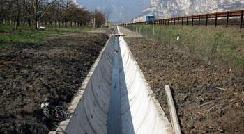 canalette troncovoidali 1400x1110 per autostrada del Brennero A22