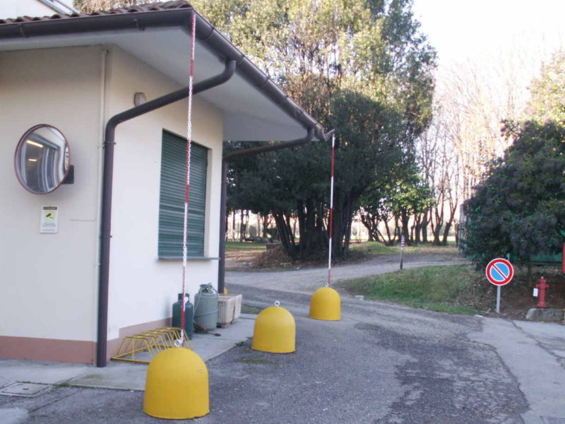 gennaio 2015: panettoni verniciati di giallo per la casa di riposo Guizzo Marseille