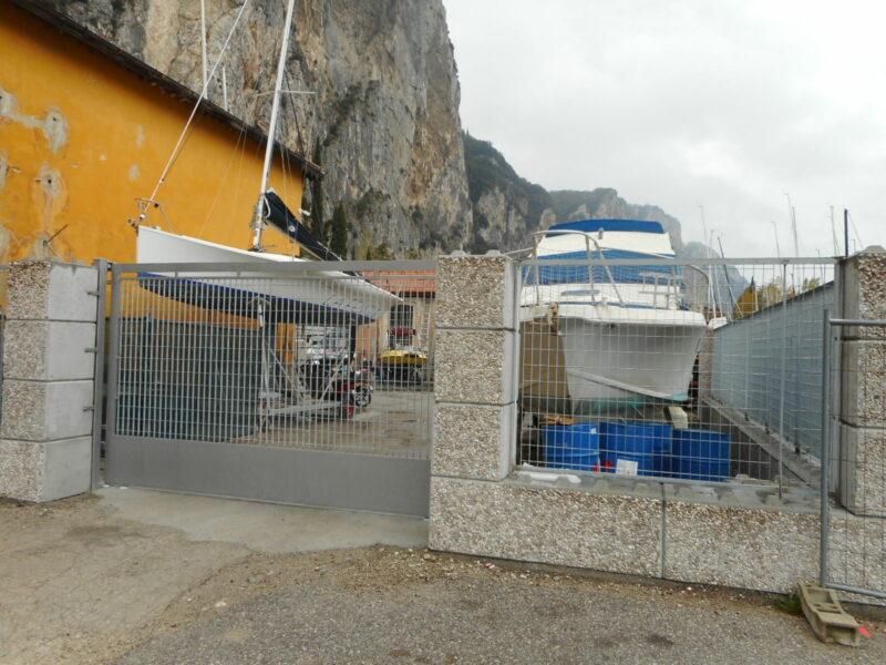 dolomitilego serie 600 per recinzione di un cantiere navale
