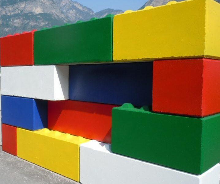 muro di prova 1 718x600 - Trennwände EURO-LEGO - strassenbau-