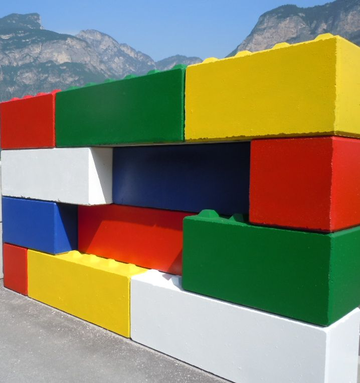 muro di prova - Partition walls EURO-LEGO roads