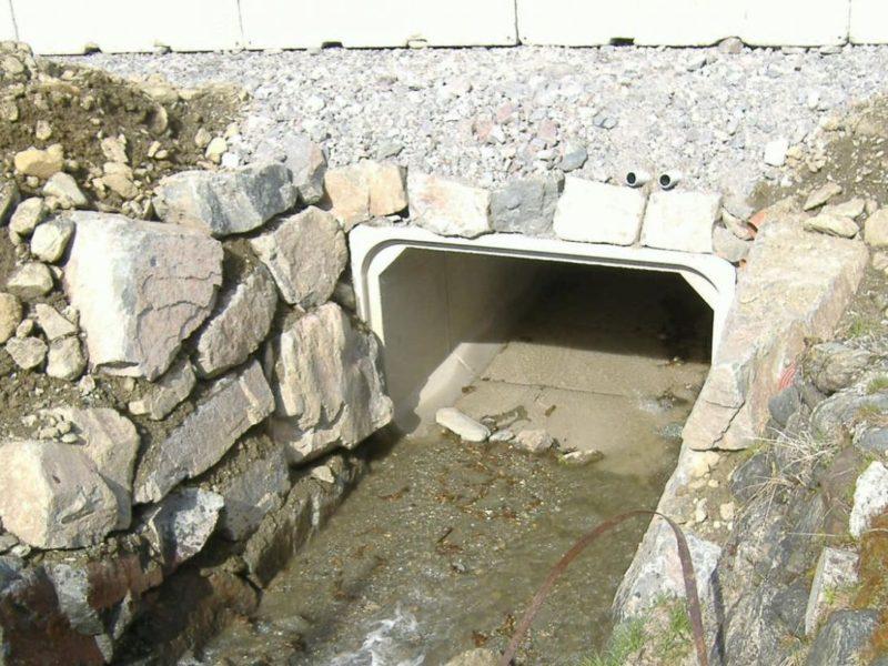 sottopasso per il rio Croce sulla SS 508 con scatolare 3000x2000. Autore Provincia autonoma di Bolzano - Dott. Walder