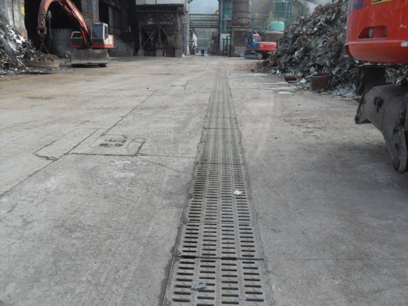 vista finale dei canali elefant M500 in classe E600 nello stabilimento delle acciaierie Venete