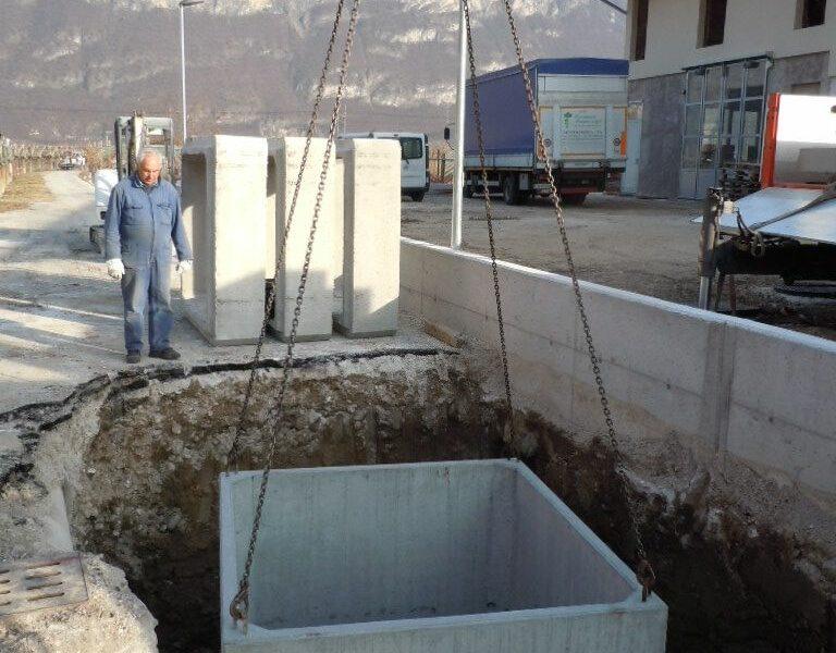posa in opera di vasca gigante da 8000 litri